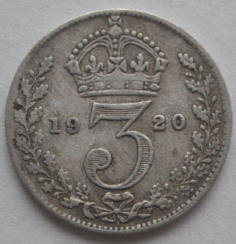 1920 3 pence coin