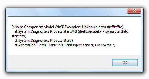 Error Snapshot