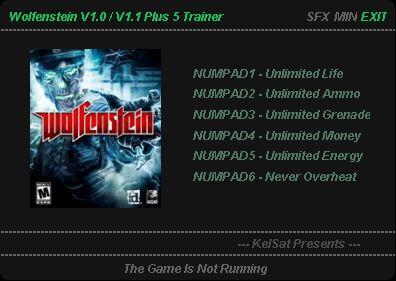 Wolfenstein The New Order GAME TRAINER v 26 TRAINER - download