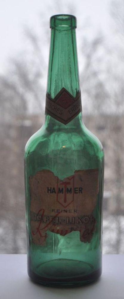 1930s Germany German Hammer Kummel Tafel Liquor Bottle