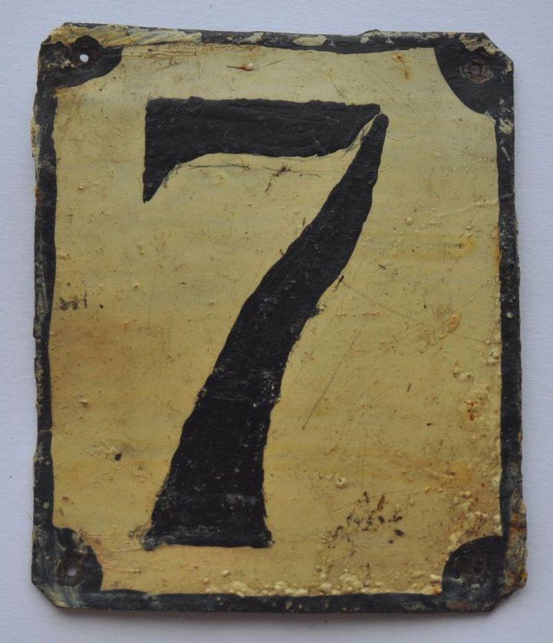 1900s Imperial Russia Apartment Flat Door Number Sign #7 RARE TIN ...