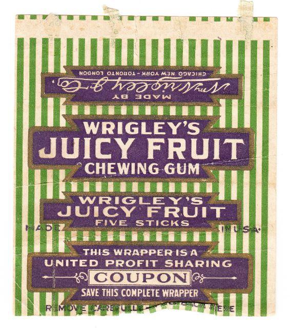 Wrigley's profit sharing coupons