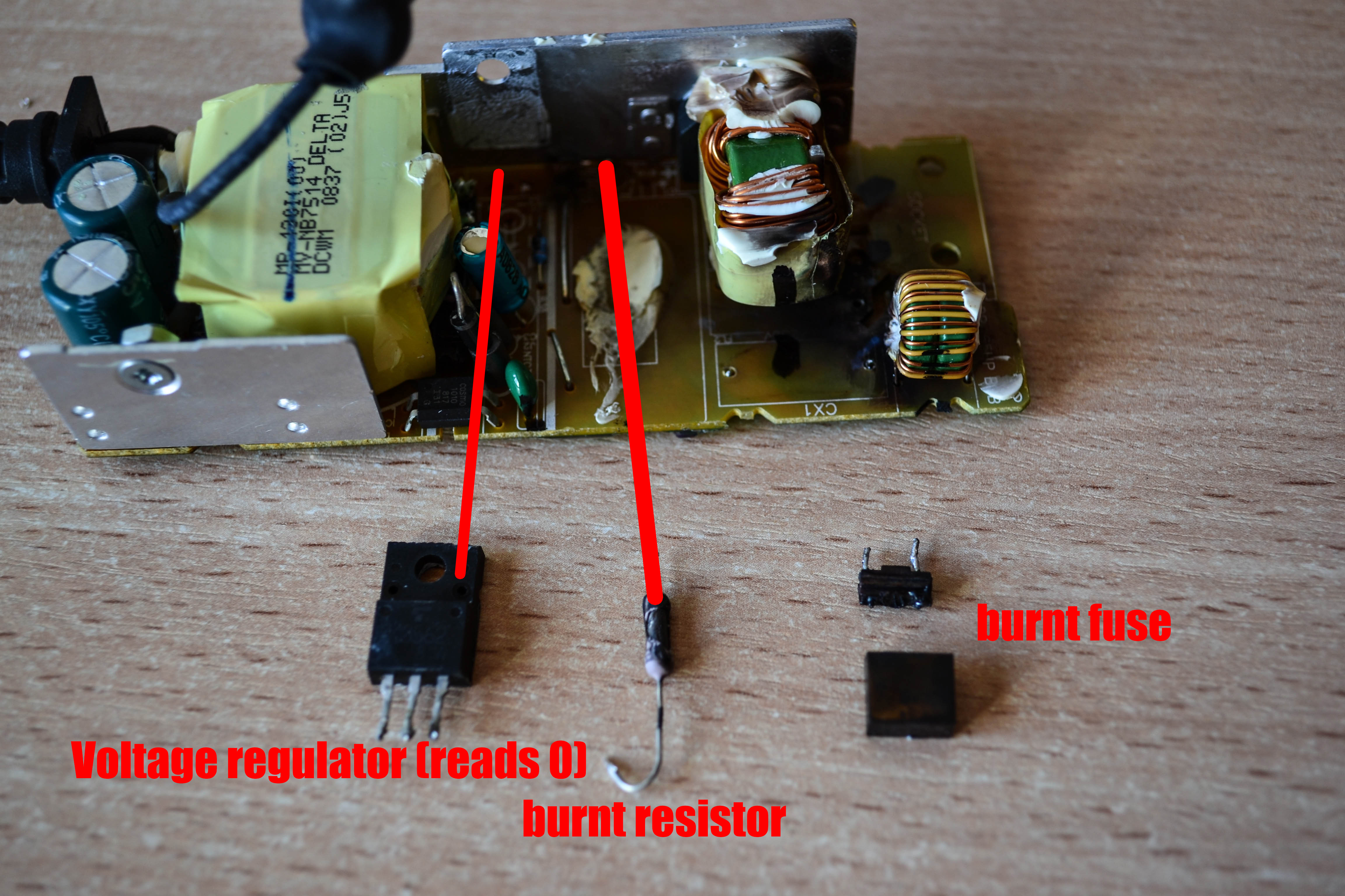 Fuse Blown In Laptop Charger Wiring Diagram Services Burnt Breaker Box Hp Compaq Damaged Resistor Faulty Vregulator And So Rh Badcaps Net Troubleshooting Fuses