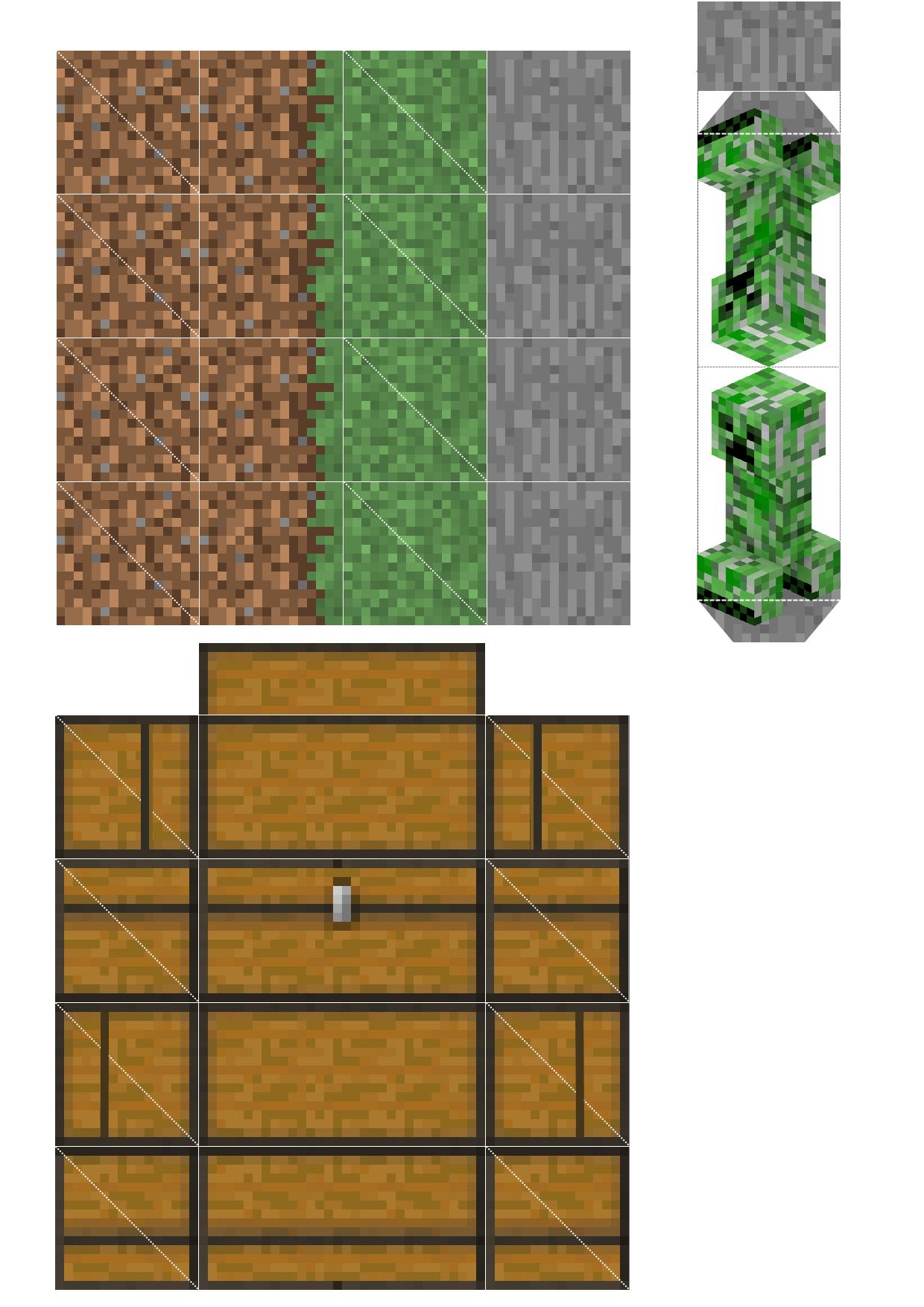 блоки из майнкрафта из бумаги фото #5