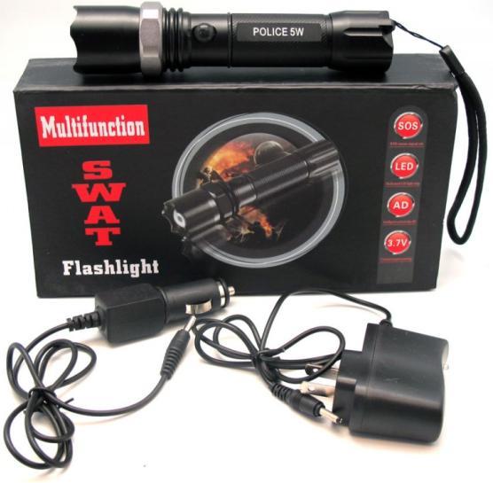 <<  Linterna LED Multifuncion SWAT RECARGABLE  >>