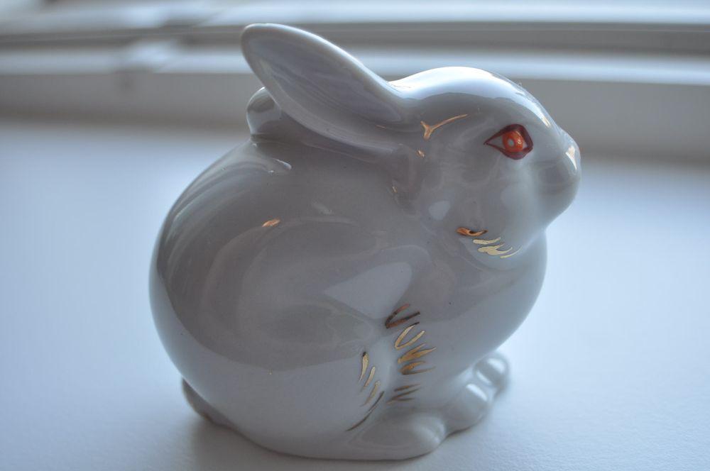 ussr russian porcelain rabbit figurine nice ebay. Black Bedroom Furniture Sets. Home Design Ideas