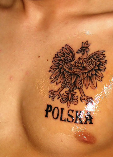 polish hussar tattoo cover up by Mirek vel Stotker