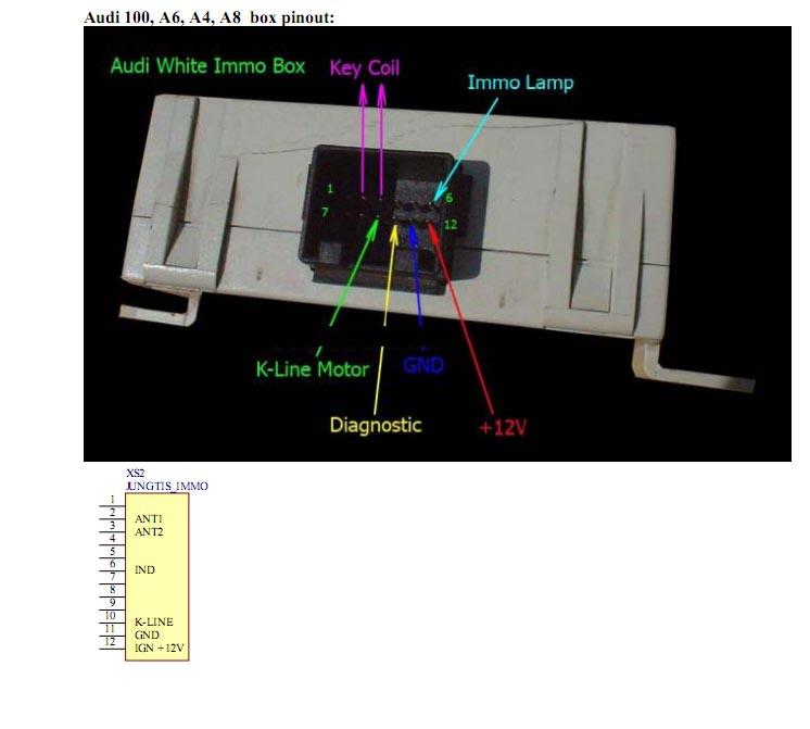 Re: Audi 80B4 электросхема подключения штатного иммобилайзера.  Адрес: МО.