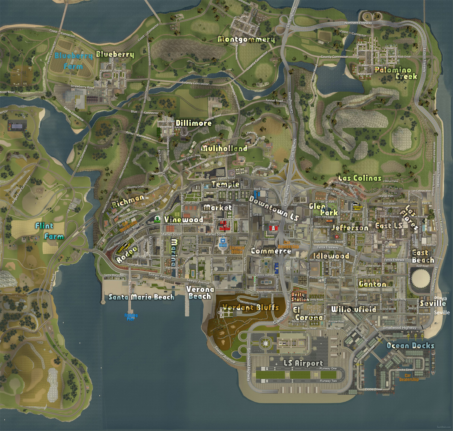 Map mod | Red County Roleplay